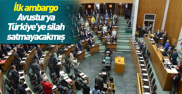 Avusturya Parlamentosu'ndan Türkiye'ye silah ambargosu