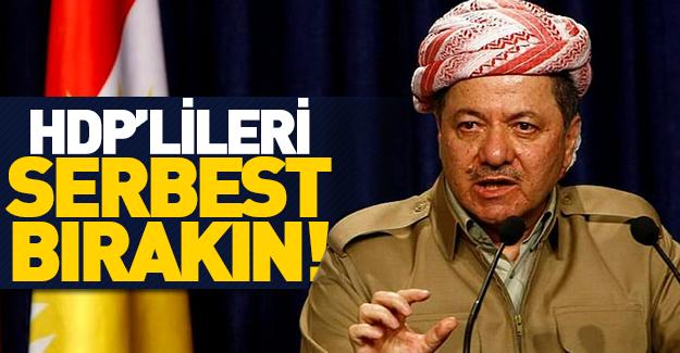 """Barzani'den """"HDP'lileri serbest bırakın"""" çağrısı"""