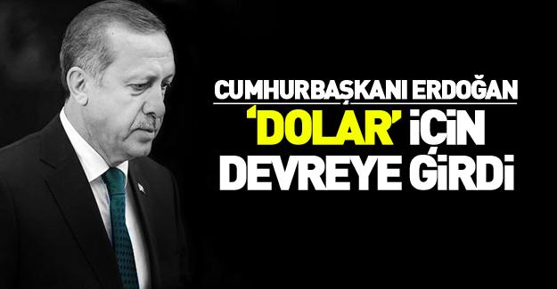 Erdoğan 'Dolar' için devreye girdi!