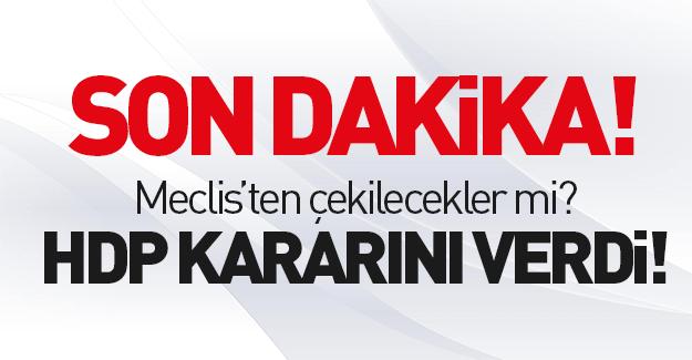 HDP kararını verdi!