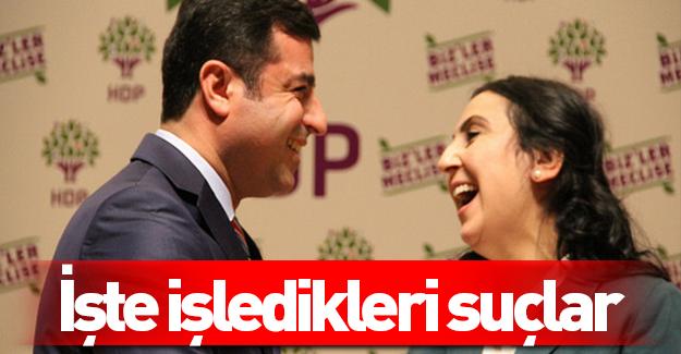 İşte HDP'li vekillerin işledikleri suçlar