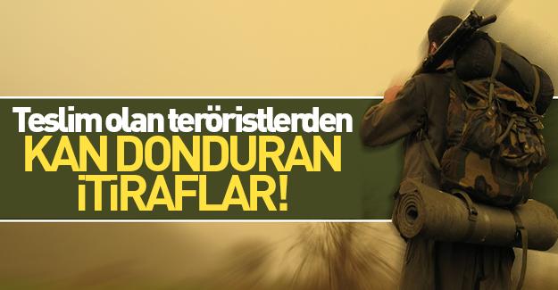 Teslim olan teröristler PKK'nın gerçek yüzünü anlattı