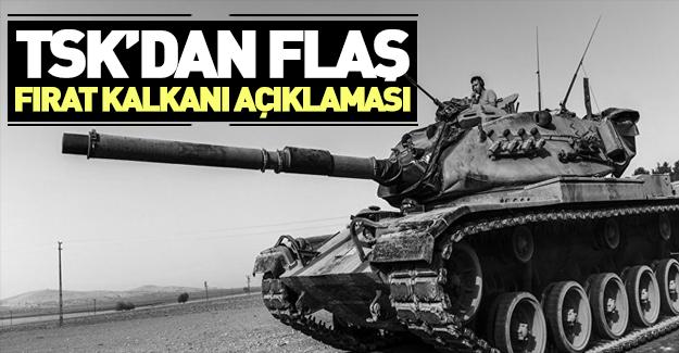 TSK'dan Fırat Kalkanı açıklaması: 20 terörist öldürüldü