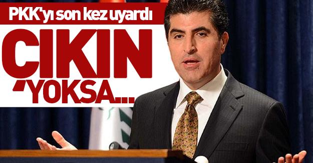 """Barzani: """"PKK'yı son kez uyarıyorum"""""""