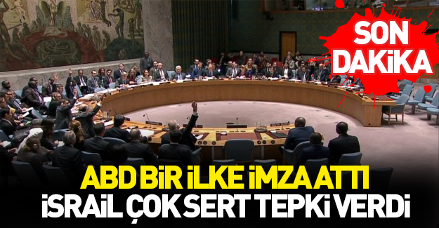 BM'den flaş Filistin-İsrail kararı!