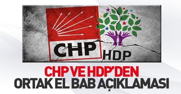 CHP ve HDP'den El Bab açıklaması