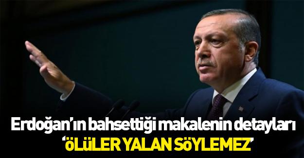 İşte Erdoğan'ın bahsettiği o makalenin detayları