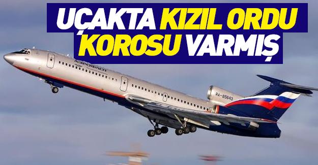 Rus uçağı Kızıl Ordu Korosu'nu da taşıyordu!