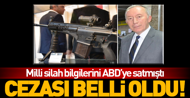 Silah bilgilerini satan MKEK müdürünün cezası belli oldu