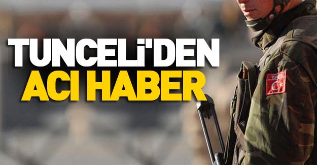 Tunceli'de çatışma: 1 asker şehit düştü