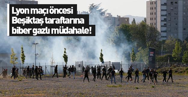 Fransız Polisi, Stadyuma Giden Beşiktaş Taraftarlarına Biber Gazı Kullandı