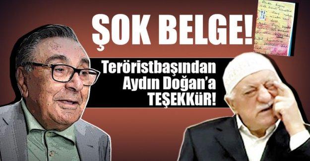 Teröristbaşından Aydın Doğan'a teşekkür!