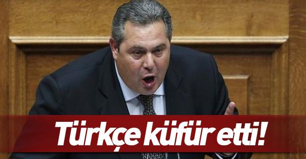Yunan bakandan 'Türkçe' küfür!