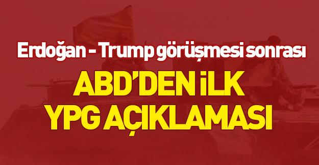 Erdoğan sonrası, ABD'den ilk YPG açıklaması