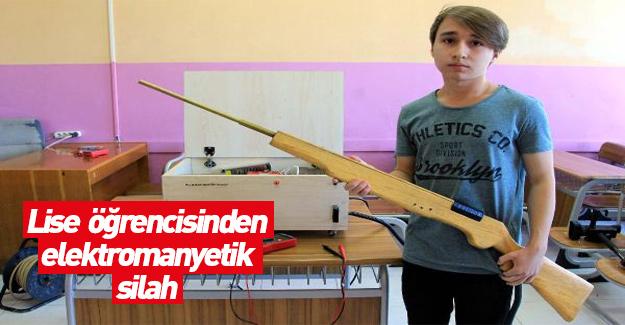 Lise öğrencisinden 'elektromanyetik silah'