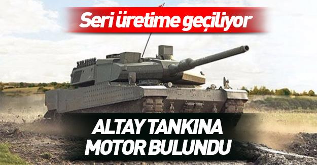 O sorun da aşıldı! Altay tankına motor bulundu