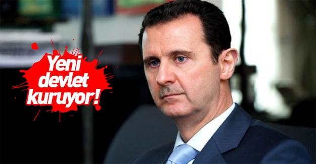 Zalim Esed yeni devlet kuruyor!