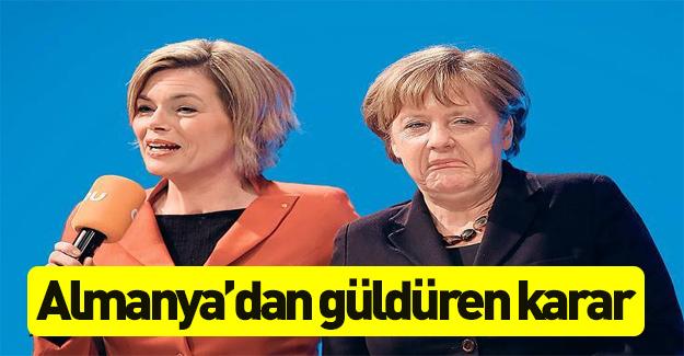 Merkel'in yardımcısı güldürdü!