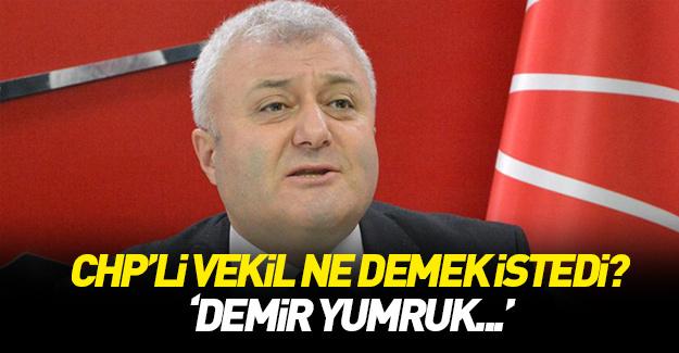 "CHP'li Özkan ""demir yumruk""tan bahsetti!"