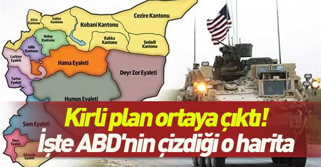 Kirli plan ortaya çıktı! İşte ABD'nin çizdiği Suriye haritası