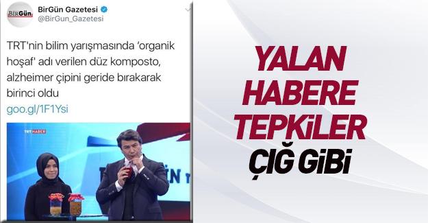 TRT yarışmasında 'organik hoşaf' birinci oldu yalanı