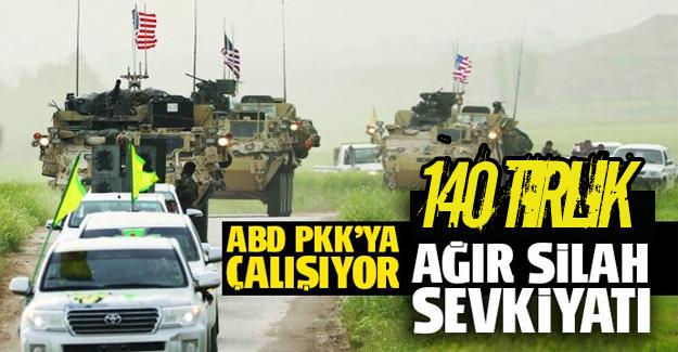 ABD Suriye'de teröristlere silah göndermeye devam ediyor