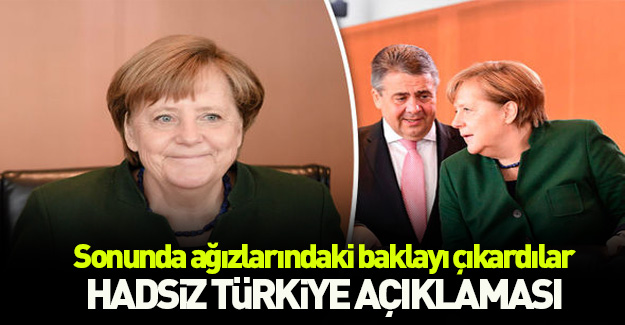 Almanya'dan küstah Türkiye açıklaması