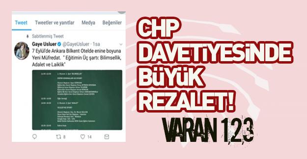 CHP'nin eğitim çalıştayı davetiyesinde rezalet!