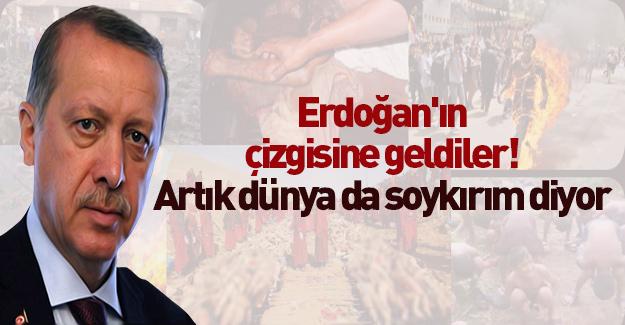 Erdoğan'ın çizgisine geldiler! Artık Dünya da soykırım diyor