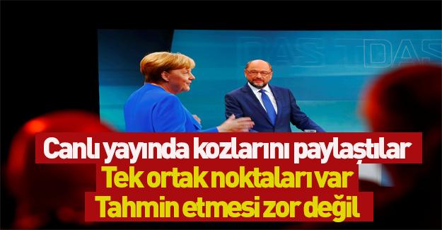 Merkel ve Schulz canlı yayında tartıştı