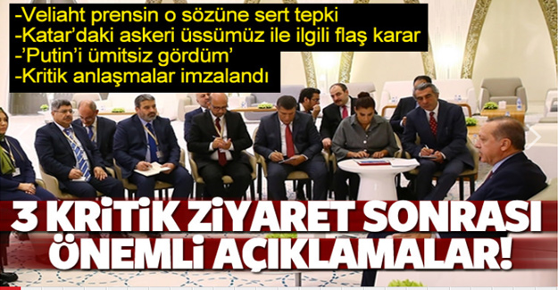 Cumhurbaşkanı Erodğan'dan önemli açıklamalar