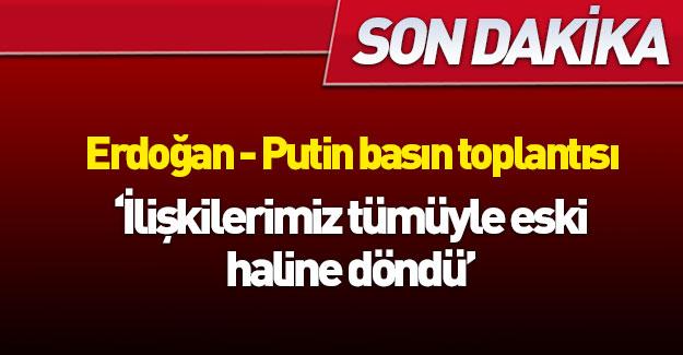 Erdoğan ve Putin açıklama yapıyor