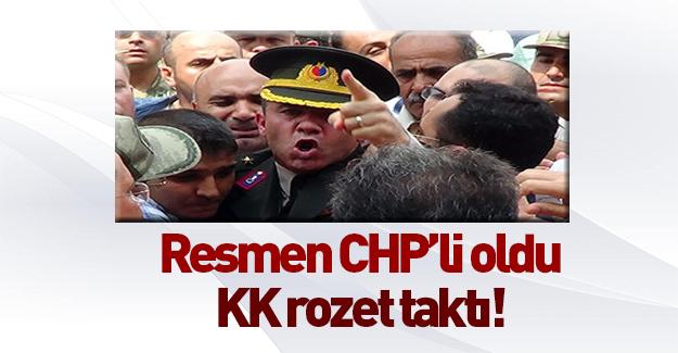 O asker CHP'li oldu