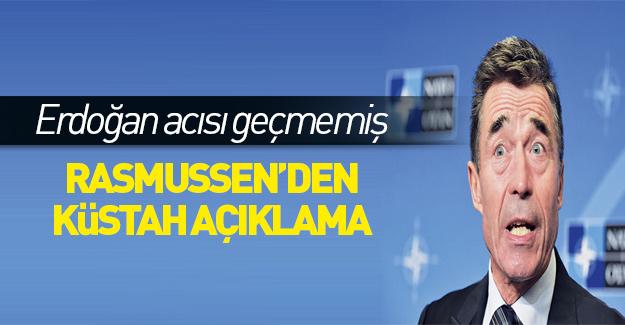 Rasmussen'den Türkiye'ye küstah uyarı!