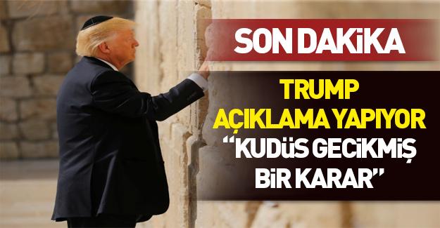 Trump'tan Kudüs için ilk mesaj!