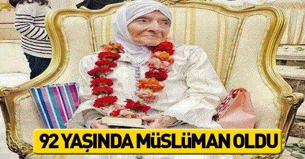 92 yaşında Müslüman oldu