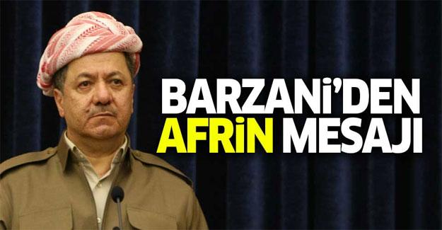 Barzani Afrin operasyonu hakkında konuştu