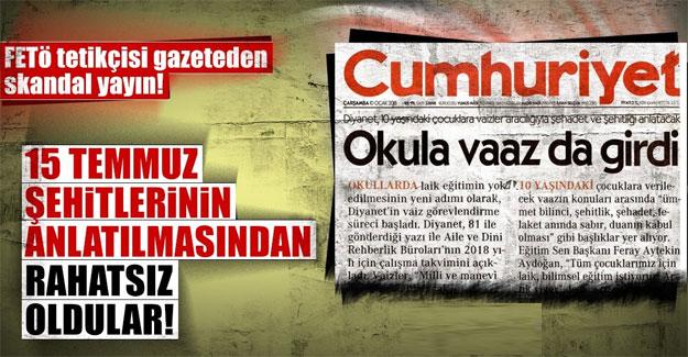 FETÖ tetikçisi gazeteden skandal yayın!