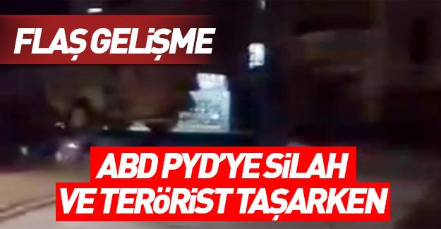 ABD PYD'ye terörist taşırken