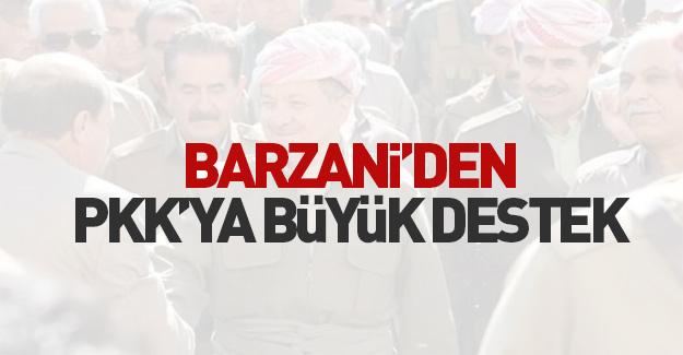 Barzani'den PKK'ya destek