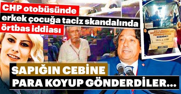 CHP'de otobüsünde taciz skandalı!