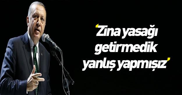 """Cumhurbaşkanı Erdoğan'dan """"zina"""" açıklaması"""