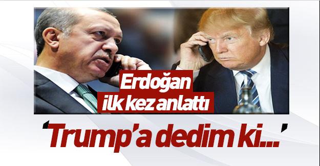 İşte Erdoğan'ın Trump görüşmesindeki flaş ayrıntı