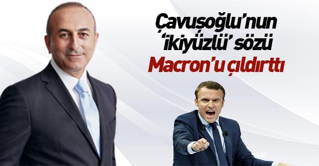 Macron'dan Çavuşoğlu'na küstah yanıt!