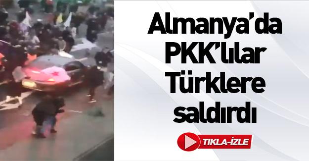PKK destekçileri Almanya'da Türk vatandaşına saldırdı