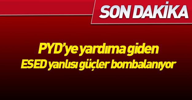 Türk jetleri YPG'ye desteğe giden konvoyu bombaladı