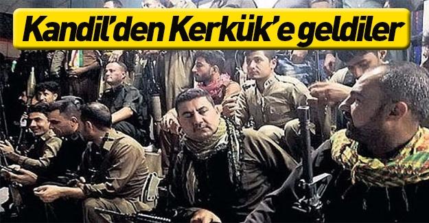 Teröristler Kandil'den Kerkük'e geldi
