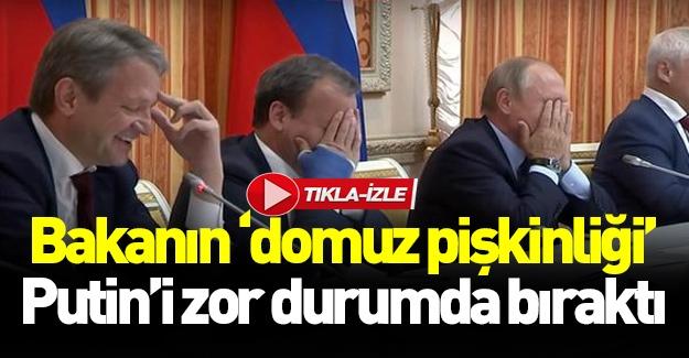 Rus bakanın domuz eti gafı Putin'i zor durumda bıraktı