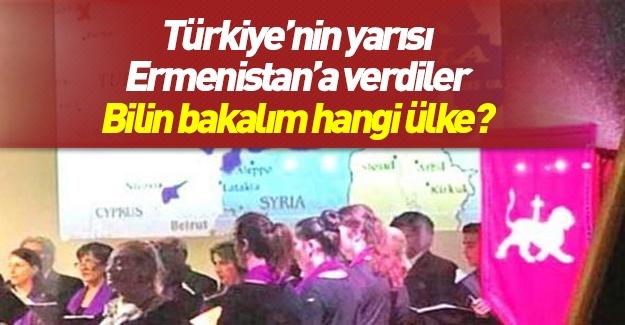 Türkiye'nin yarısını Ermenistan olarak gösterdiler