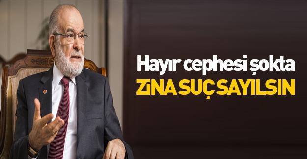Saadet Partisi'nin gazetesi: Zina yasaklansın